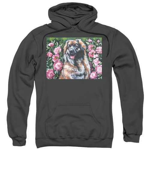 Leonberger In The Peonies Sweatshirt