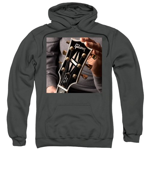 Les Paul - Hands And Gibson Headstock By Gene Martin Sweatshirt