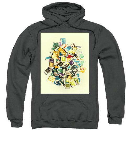 Letters In Jumble Sweatshirt