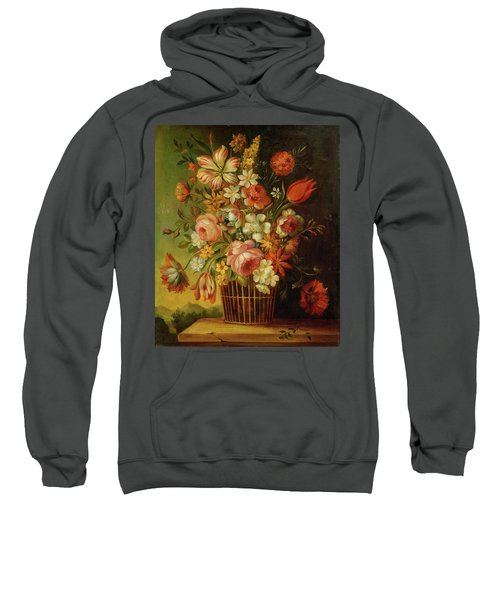 Life With Flowers In A Basket Sweatshirt