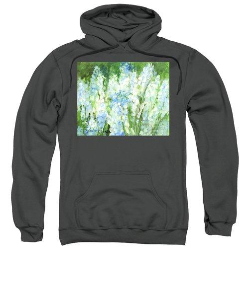 Light Blue Grape Hyacinth. Sweatshirt