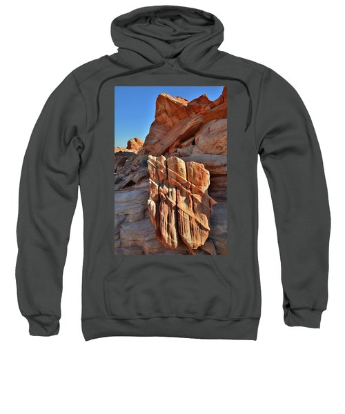 Light Creeps In At Valley Of Fire State Park Sweatshirt