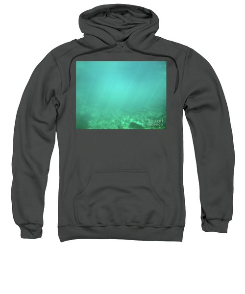 Sweatshirt featuring the photograph Light In The Water by Francesca Mackenney
