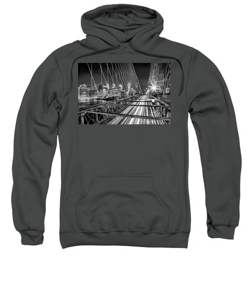 Light Trails Of Manhattan Sweatshirt by Az Jackson