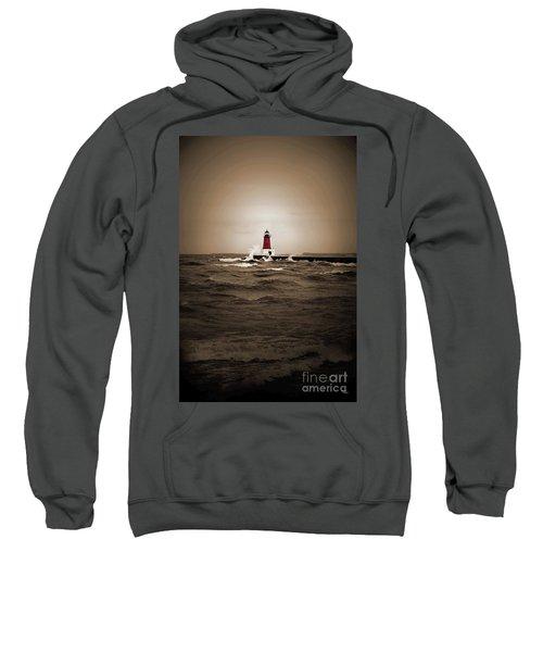 Lighthouse Glow Sepia Spot Color Sweatshirt