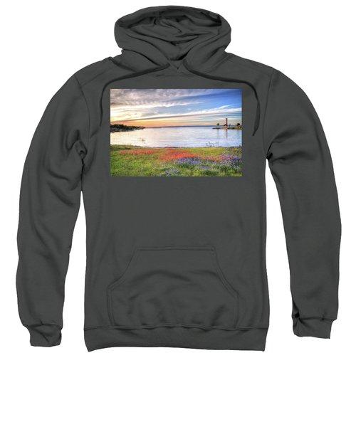 Lighthouse Sunset At Lake Buchanan Sweatshirt