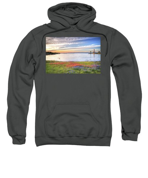 Lighthouse Sunset At Lake Buchanan Sweatshirt