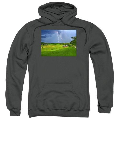 Lightning Storm Over Jenne Farm Sweatshirt