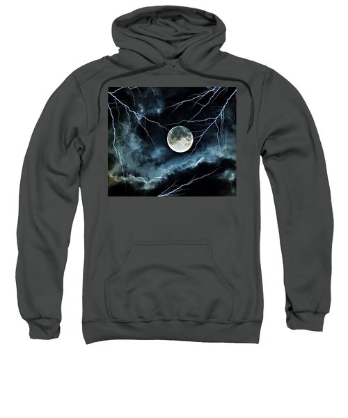 Lightning Sky At Full Moon Sweatshirt