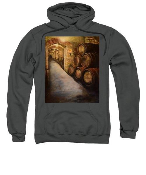 Lights In The Wine Cellar - Chateau Meichtry Vineyard Sweatshirt
