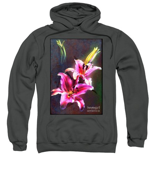 Lilies At Night Sweatshirt