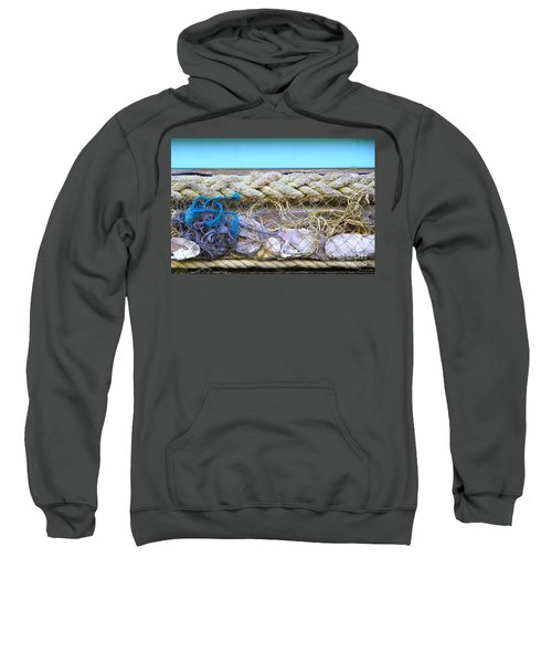 Sweatshirt featuring the photograph Line Of Debris II by Stephen Mitchell