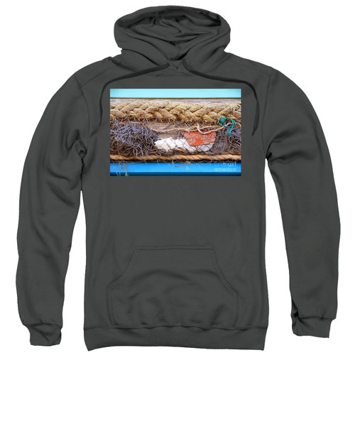 Sweatshirt featuring the photograph Line Of Debris by Stephen Mitchell