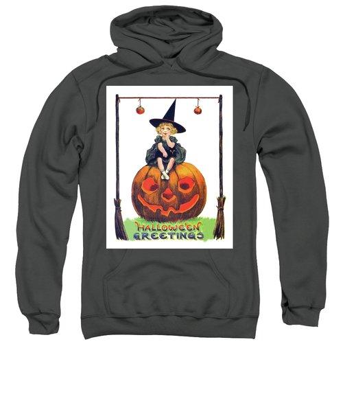 Little Witch On A Big Pumpkin Sweatshirt