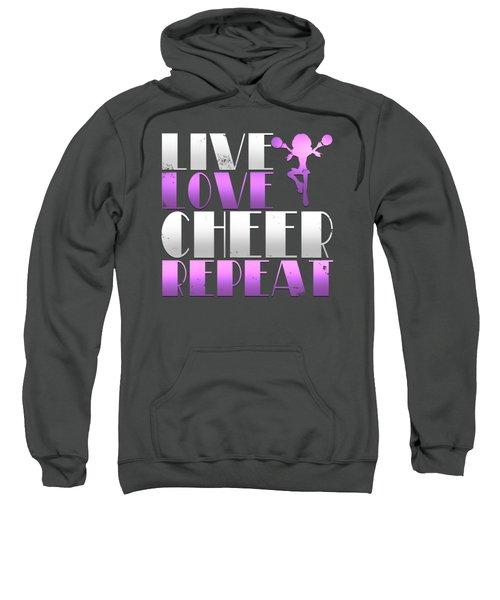 Live Love Cheer Repeat Sweatshirt
