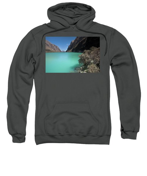 Llanganuco Lakes In Cordillera Blanca Sweatshirt