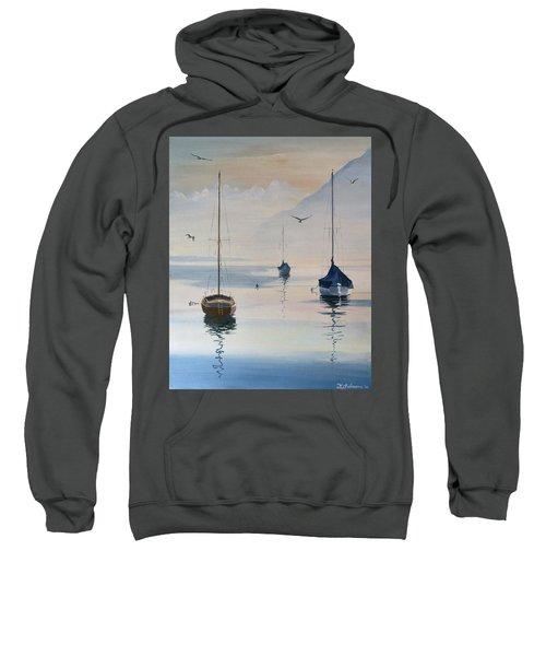 Locarno Boats In February-2 Sweatshirt