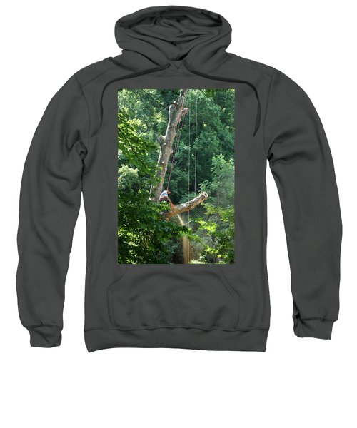 Logger Cutting Down Large, Tall Tree Sweatshirt