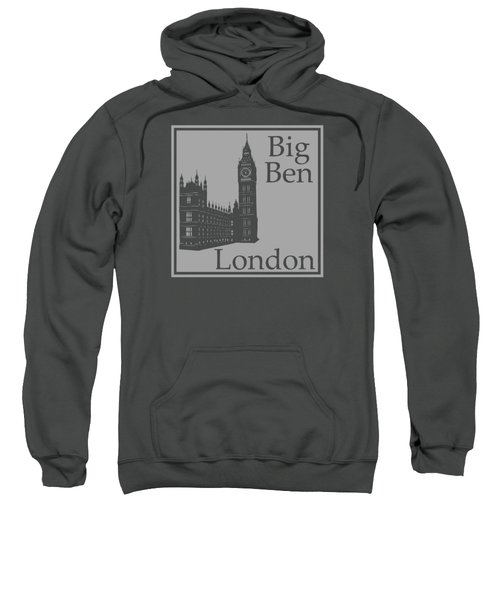 London's Big Ben In Gray Sweatshirt by Custom Home Fashions