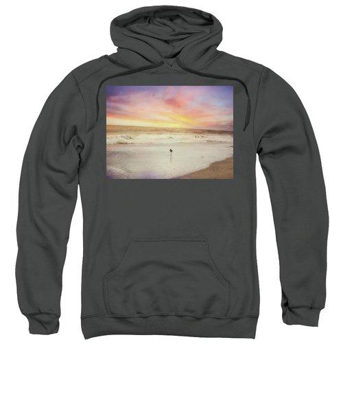Lone Bird At Sunset Sweatshirt