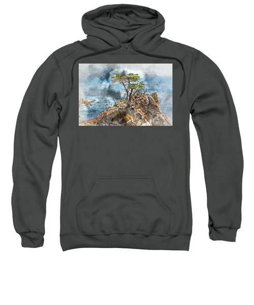Lone Cypress In Monterey California Sweatshirt