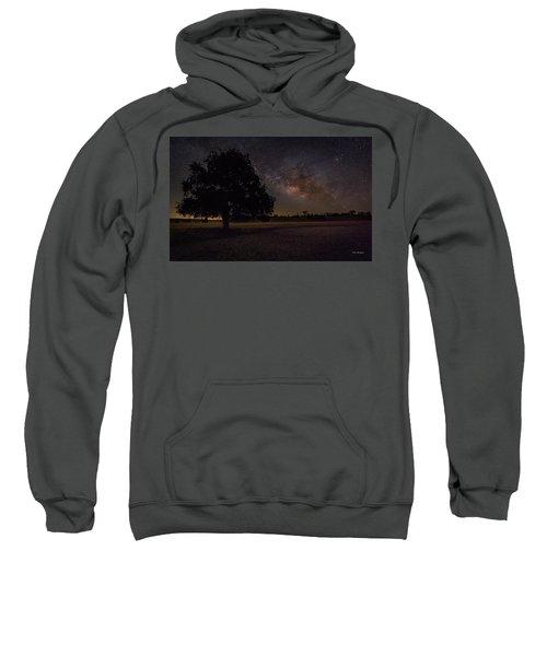Lone Oak Under The Milky Way Sweatshirt