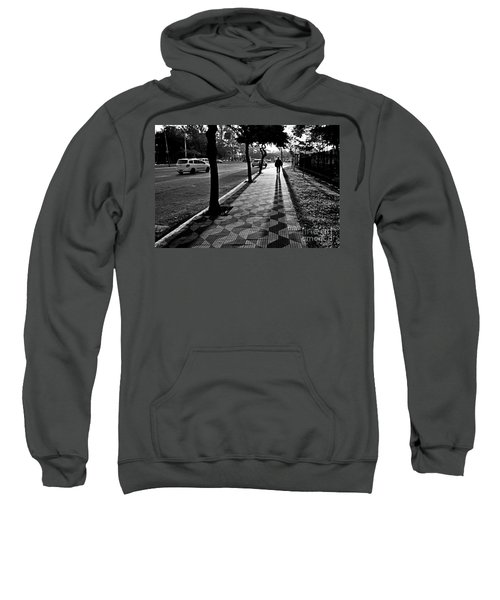 Lonely Man Walking At Dusk In Sao Paulo Sweatshirt