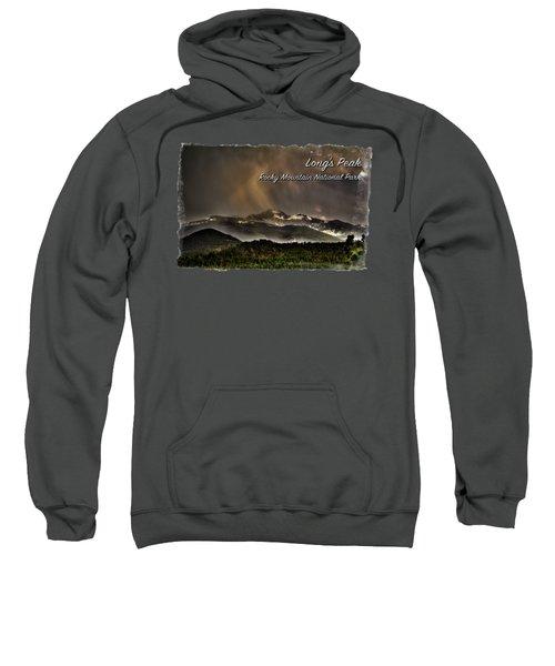 Long's Peak In Haze Sweatshirt