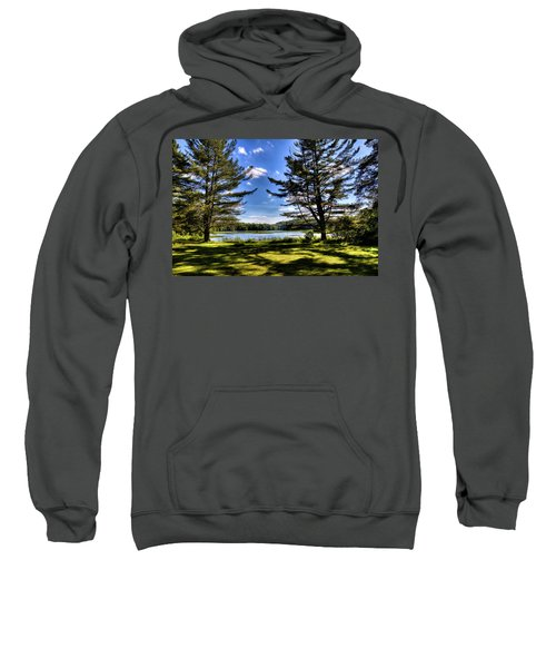 Looking At The Moose River Sweatshirt by David Patterson