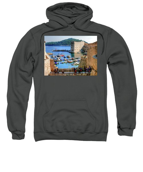 Looking Out Onto Dubrovnik Harbour Sweatshirt