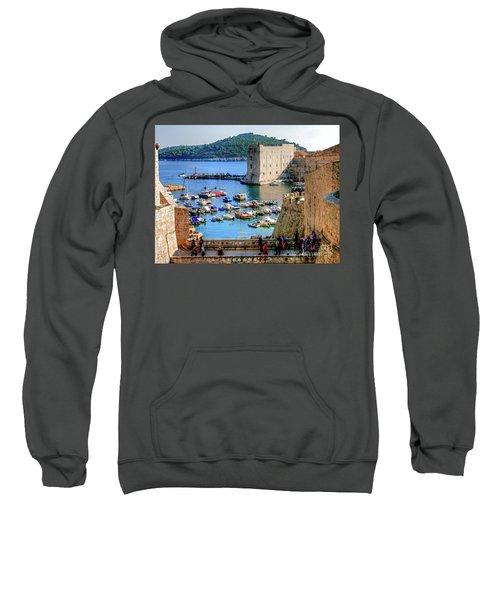 Looking Out Onto Dubrovnik Harbour Sweatshirt