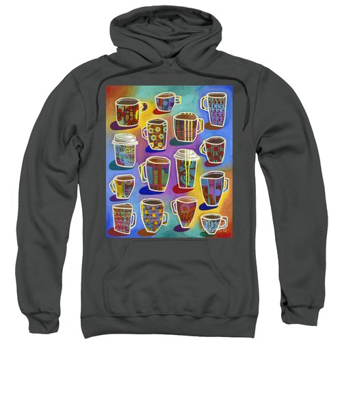 Sweatshirt featuring the painting Lots Of Lattes by Carla Bank