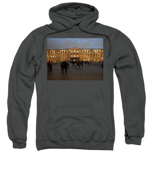 Sweatshirt featuring the photograph Louvre Palace, Cour Carree by Mark Czerniec