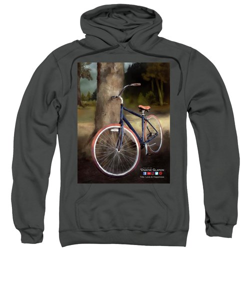 Love And Happiness Poster Sweatshirt