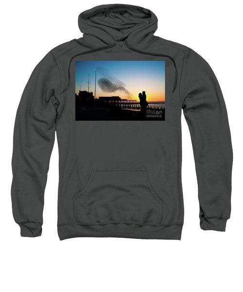 Love Birds At Sunset Sweatshirt