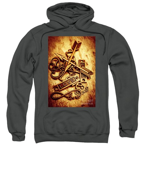 Love Charms In Romantic Signs And Symbols Sweatshirt