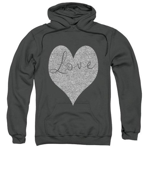 Love Heart Glitter Sweatshirt