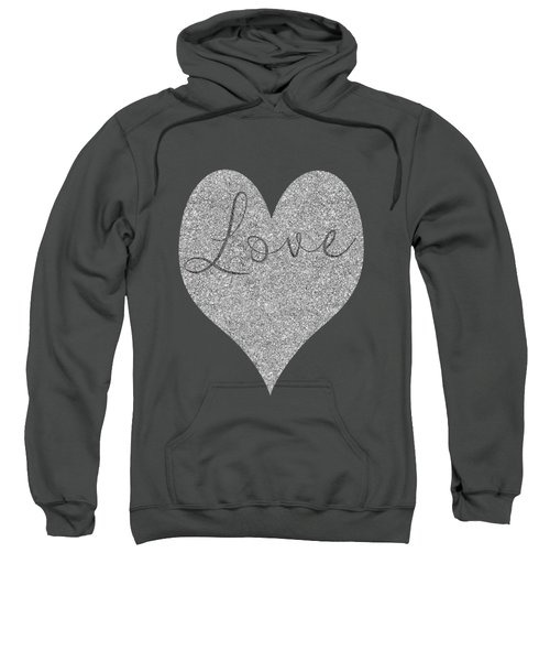 Love Heart Glitter Sweatshirt