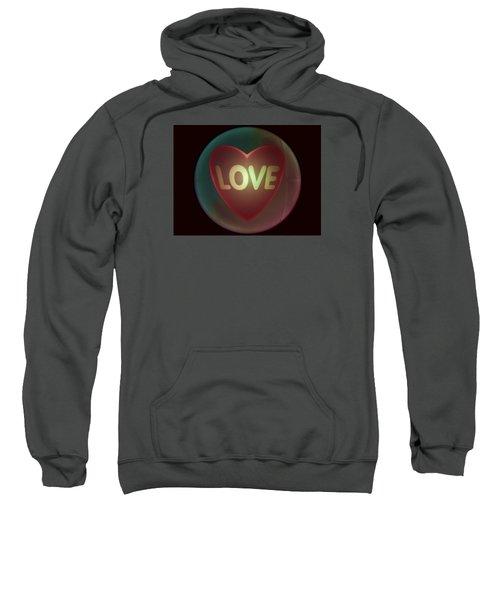 Love Heart Inside A Bakelite Round Package Sweatshirt