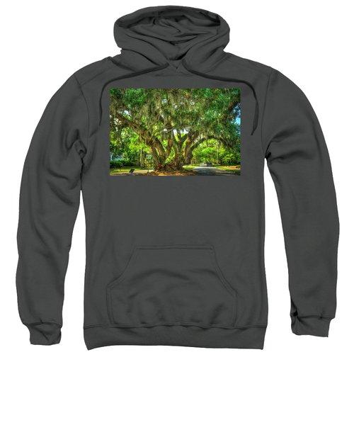 Lovers Oak Live Oak Tree Brunswick Georgia Art Sweatshirt