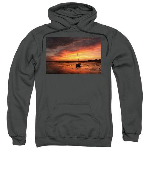 Low Tide Sunset Sailboats Sweatshirt