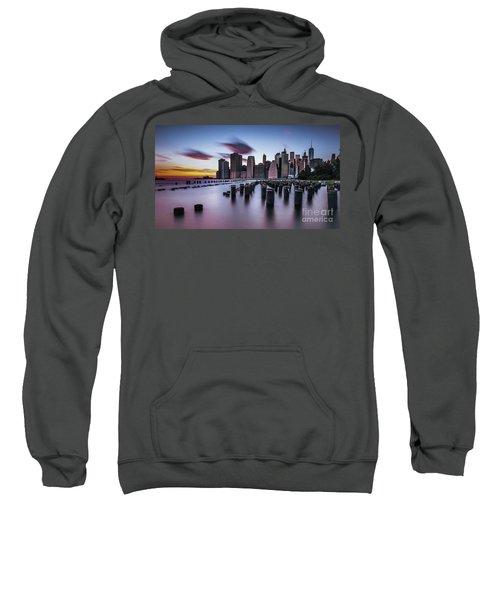 Lower Manhattan Purple Sunset Sweatshirt