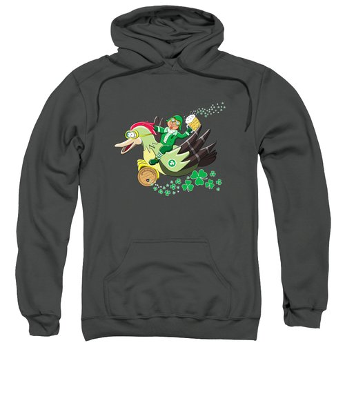 Lucky Leprechaun Sweatshirt by David Brodie