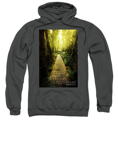 Lush Green Rainforest Walk Sweatshirt