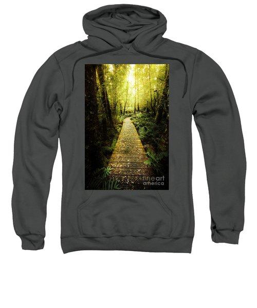 Lush Green Rainforest Walk Sweatshirt