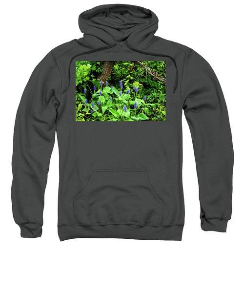 Lush Purple Flowers In The Woods Sweatshirt