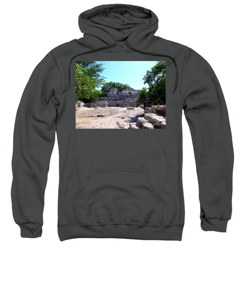 Sweatshirt featuring the photograph M Ruin by Francesca Mackenney