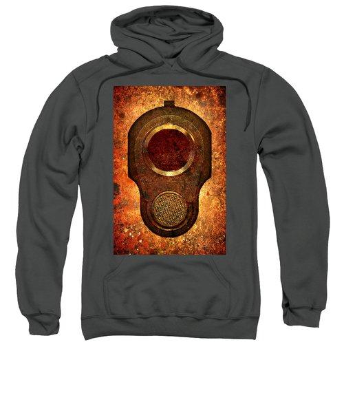 M1911 Muzzle On Rusted Background Sweatshirt