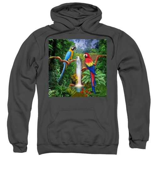 Macaw Tropical Parrots Sweatshirt