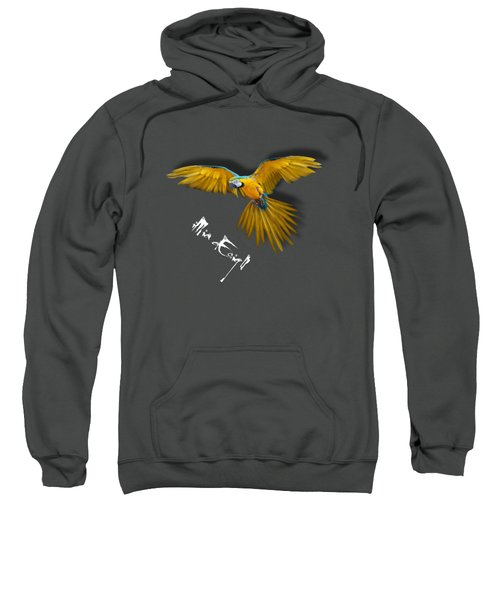 Macaws In Paint Sweatshirt